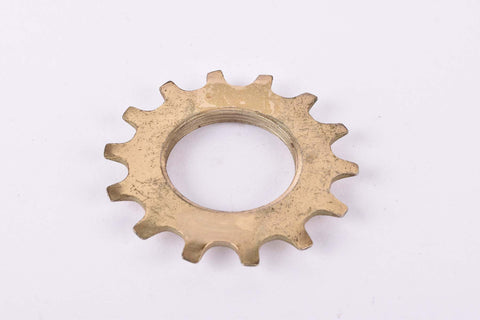 NOS Golden Shimano Dura Ace 6 speed Uniglide Top Sprocket with 14 teeth