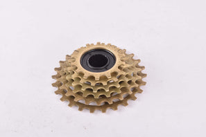 NOS Regina Extra Synchro 90-S Oro 6-speed golden Freewheel with 14-26 teeth and english thread from the 1980s - 1990s