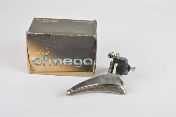 NEW Ofmega Mistral clamp-on front derailleur from 1980s NOS/NIB