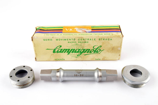 NEW Campagnolo Victory Bottom Bracket spindle and cups with french threading and 109 mm length NOS/NIB