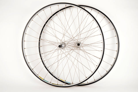 Wheelset with Mavic Open 4 Ceramic Clincher Rims and Campagnolo Record #1034 hubs from the 1980s