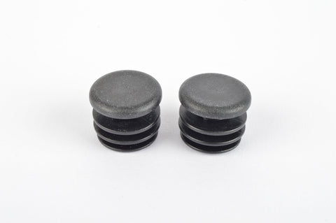Black Bar End Handlebar plug set