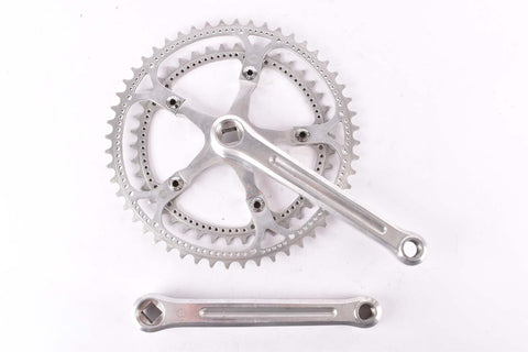 Zeus Criterium ref. 31 Crankset with drilled chainrings with 52/42 teeth and 170mm length from the 1970s