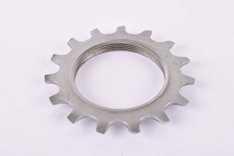 NOS Shimano 600 Uniglide #1241515 Cog with 15 teeth threaded on inside (#BC40) in silver from the 1970s - 80s