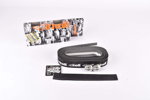 Cinelli Logo Velvet C Ribbon Handlebar Tape, black