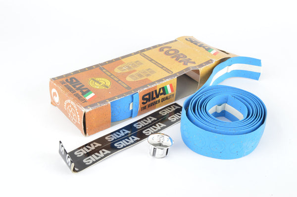 NEW Silva blue Cork Gazelle handlebar tape from the 1980s NOS/NIB