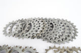 mixed lot Campagnolo Super Record Aluminium Freewheel Cogs from the 1980s