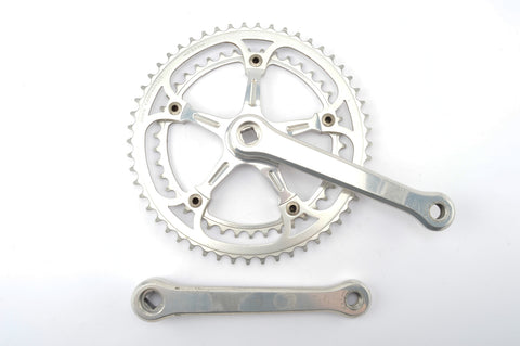 Campagnolo Super Record #1049/A no flute arm etched logo crankset with 42/53 teeth and 170 length from 1986