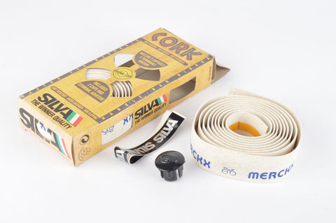 NEW Silva white Cork Eddy Merckx handlebar tape from the 1980s NOS/NIB