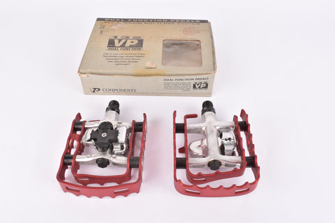 NOS/NIB 132 VP red anodized Dual Function Pedals from the 1990s