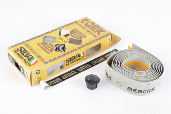 NEW Silva grey Cork Eddy Merckx handlebar tape from the 1980s NOS/NIB