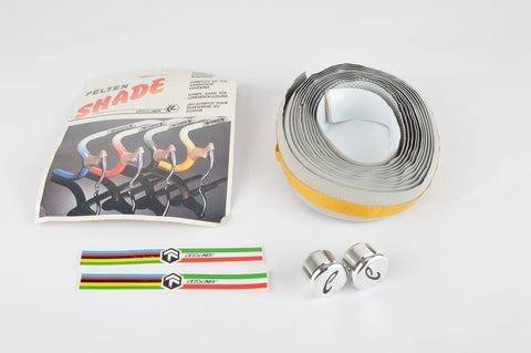 NOS/NIB Ciclolinea Pelton Shade white/grey fading Dots handlebar tape from the 1980s