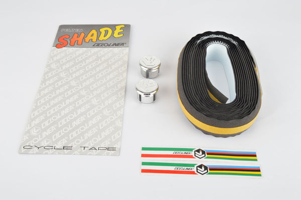 NOS/NIB Ciclolinea Pelton Shade white/black fading Dots handlebar tape from the 1980s