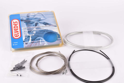 NOS/NIB Elvedes universal brake cable set with silver housing compatible for Shimano and Campagnolo