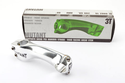 NEW silver 3ttt Mutant Ahead Stem in size 110 with 25.8/26mm clampsize from the early 90s NOS/NIB