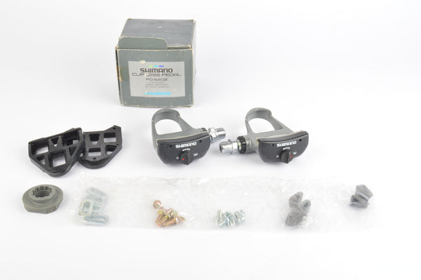 NEW Shimano 600 Ultegra #PD-6402 Pedals including cleats and english threading from the 1990s NOS/NIB
