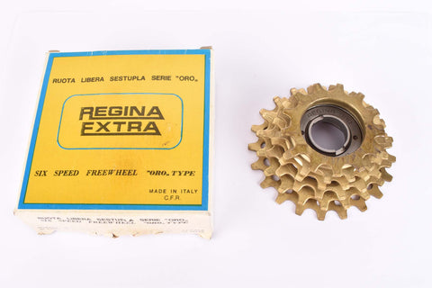 NOS/NIB Regina Extra Oro 6-speed Freewheel with 13-21 teeth and french threading from the 1980s