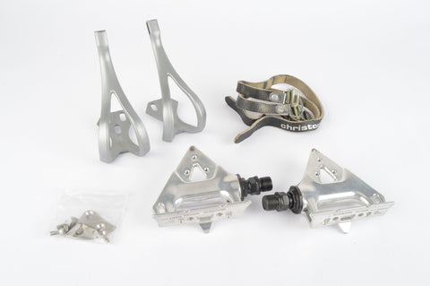 Shimano #PD-A550 pedals, including toeclips and Cristophe Straps from 1994 - New Bike Take Off
