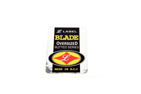 "NOS L Label ""Oversized Butted Series"" #Blade Decal"