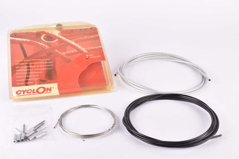 NOS/NIB CyclOn shifting cable set with silver housing compatible for Shimano and Campagnolo