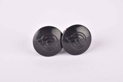 Black Cinelli handlebar end plugs