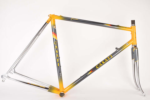 Casati Gold Line S. (Super Record) aero frame set in 55.5 cm (c-t) / 54.0 cm (c-c) with Columbus SL tubing from the mid 1980s