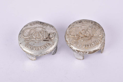 Gaslo Capsula Brevettata aluminum handlebar end plugs from the 1950s
