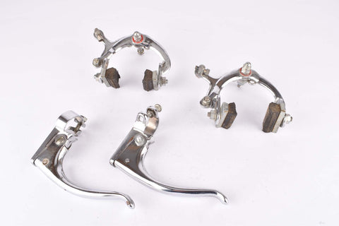 Iris Chromed Steel single pivot brake calipers and chromed steel brake lever from the 1950s
