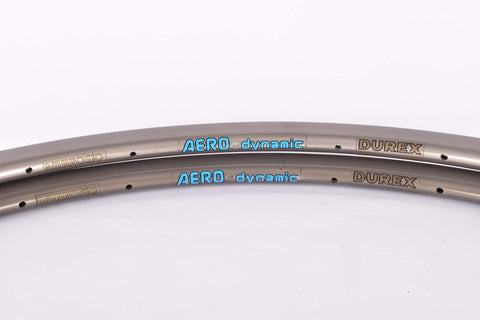 NOS Ambrosio Aero Dynamic tubular rims 700C / 622 mm with 28 holes from the 1980s - 1990s