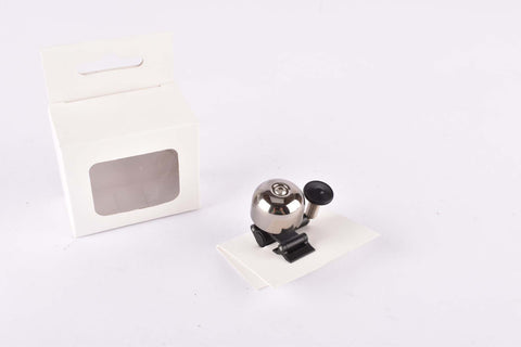Mini Brass Bell with Clip, dark chrome