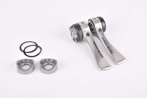Shimano 105 #SL-1050 6-speed braze on Gear Lever Shifter Set from 1987