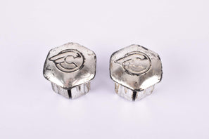 Silver Cinelli winged logo handlebar end plugs for Cinelli EXA Handlbar