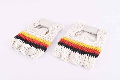 NOS German crochet cycling gloves in size medium from 1980s