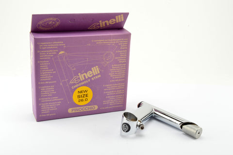NEW Cinelli Pinocchio Stem in size 95, clampsize 26.0 from 1997 NOS/NIB