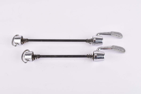 Campagnolo first generation C-Record / Record Corsa quick release set, front and rear Skewer from the mid 1980s
