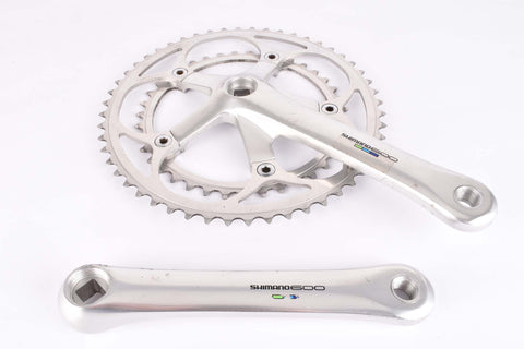 Shimano 600 Ultegra Tricolor #FC-6400 Crankset with 39/52 teeth and 170mm length from 1991