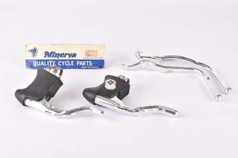 NOS/NIB Minerva safety double brake lever set from the 1980s