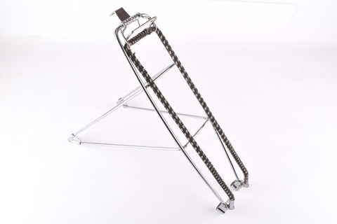 "Chromed Steel Randonneur / Road Bike french rear Rack for 28"" from the 1950s - 1970s"