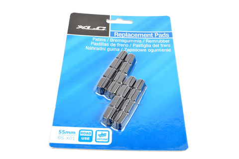 NEW XLC #BS-X01 55mm black replacement brake pads (4 pcs)