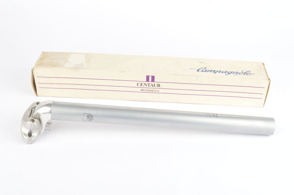 NEW Campagnolo silver polished Centaur MTB long version seatpost in 27.0 diameter from the 1990s NOS/NIB