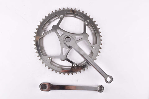ATB cottered chromed steel crankset with 52/47 teeth and 170mm length from the 1950s / 1960s