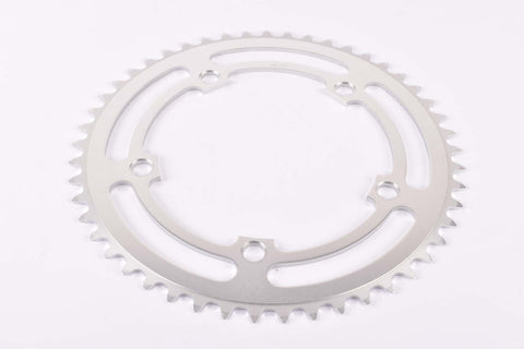 NOS Aluminium chainring with 49 teeth and 130 BCD from the 1980s