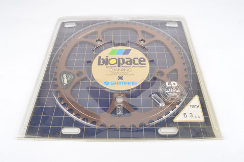 NOS/NIB Shimano Bio Pace Chainring #1470531 in 53 teeth and 130 BCD from 1987