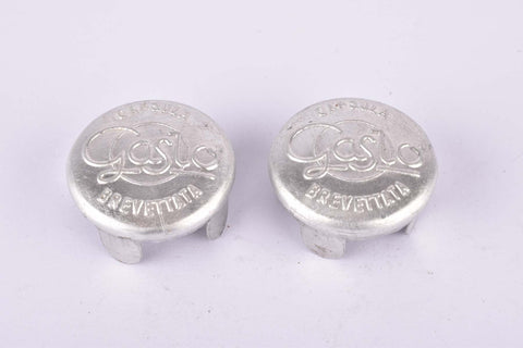 NOS Gaslo Capsula Brevettata aluminum handlebar end plugs from the 1950s