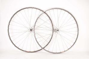 "28"" (700C) Wheelset with Mavic GP4 Tubular Rims and Campagnolo Victory #422/000 or Triomphe #922/000 low flange hubs with italian thread from the 1980s"