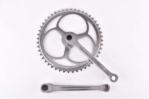 Gnutti cottered chromed steel single crankset with 48 teeth and 170mm length from the 1940s / 1950s / 1960s