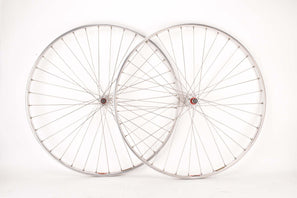 "28"" (700C) Wheelset with Super Champion Competition Route Rims and Maillard Normandy Luxe Competition (red lable) low flange hubs with english thread"