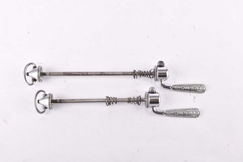 Campagnolo pre cpsc quick release set Record and Super Record, #1001/3 and #1006/8 front and rear Skewer from the 1950s - 1970s