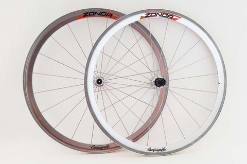 Wheelset with Campagnolo Zonda Clincher Rims and Campagnolo Athena Hubs