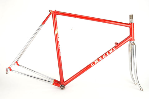 Chesini Precision X-Uno frame  in 55.5 cm (c-t) / 54 cm (c-c), with Columbus tubing